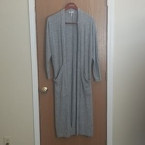 LAmade Gray Oversized Duster Cardigan Size Small